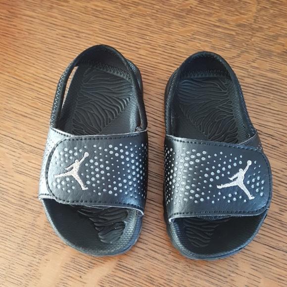 69395d7afc7f Air Jordan Other - Air Jordan toddler Velcro flip flops w  strap